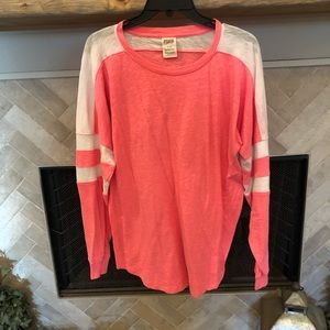 VS Pink - Pink And White long sleeved tee